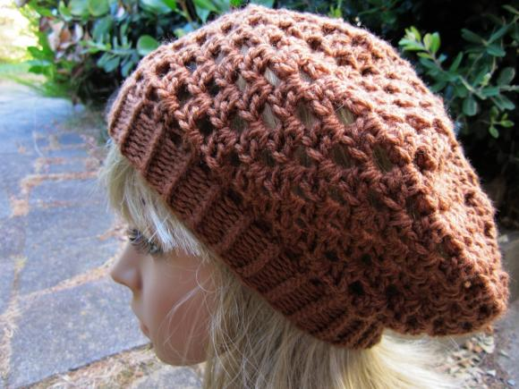 Crocheted Beret Hat - Ginger