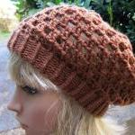 Crocheted Beret Hat - Ginge..